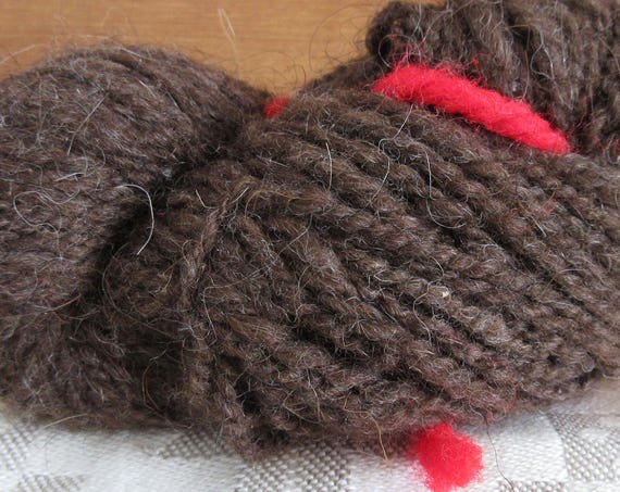 Brown Yarn, Yup. - hand spun mini skein *MS1028
