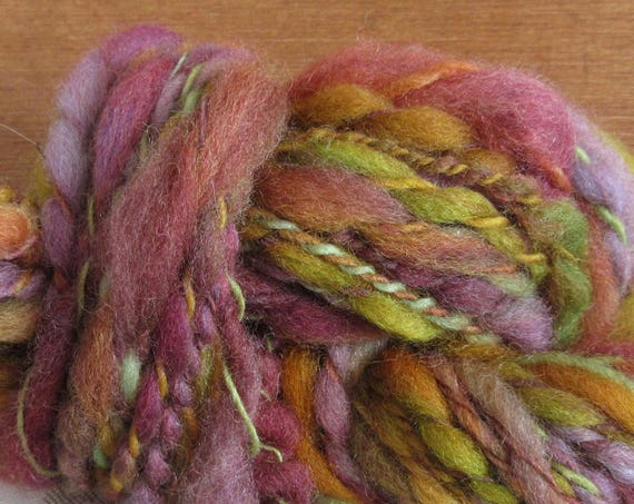 Lavender and Friends - Hand spun, hand dyed mini skein   *MS1033