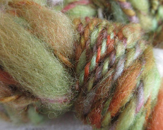 Elf Upholstery - Hand spun, hand dyed mini skein   *MS1034