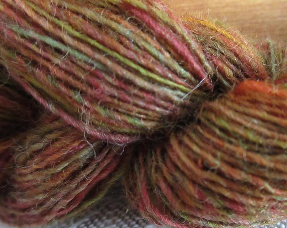 Autumn's Spider - Hand spun, hand dyed mini skein   *MS1038