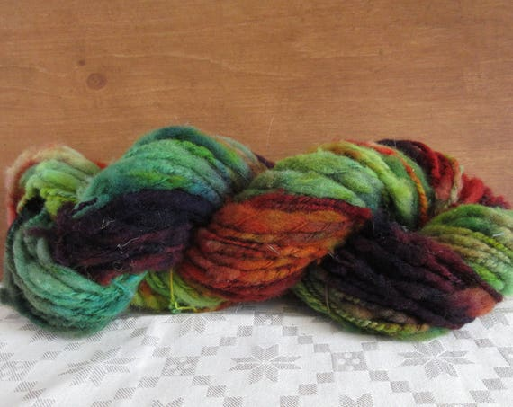 Dana The Bold- hand spun , hand dyed, domestic wool *HSN1101