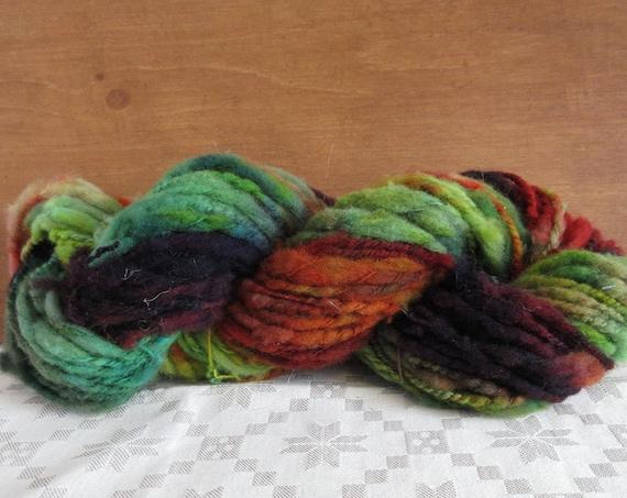 Dana The Bold- hand spun , hand dyed, domestic wool *HSN1101