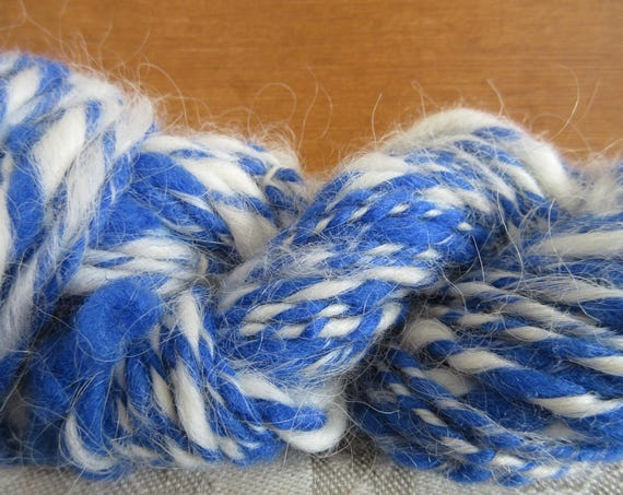 Blue Fluff - Hand spun mini skein   *MS1026