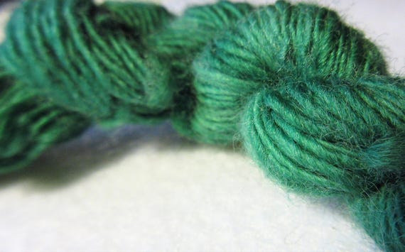 It's Not Easy - Hand spun, hand dyed, green variegated merino mini skein   *MS1002