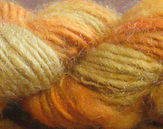 Quite Pleased - Hand spun, hand dyed, orange variegated merino mini skein   *MS1022