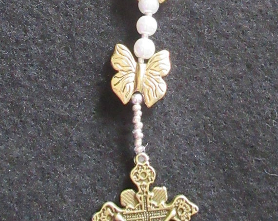 Rosary Beads with Butterflies