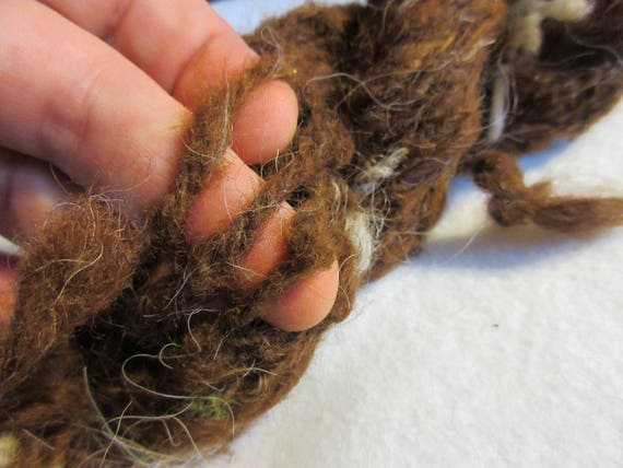 Bottom Of The Basket - Handspun Llama Yarn- rustic