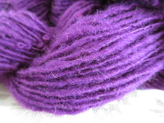 Purple Blast - Hand spun yarn   *HSNa