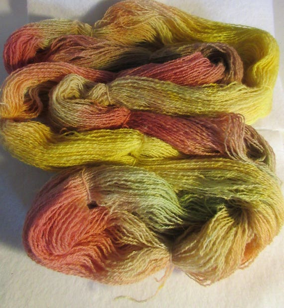 The Season Is In -Pastel hand dyed wool