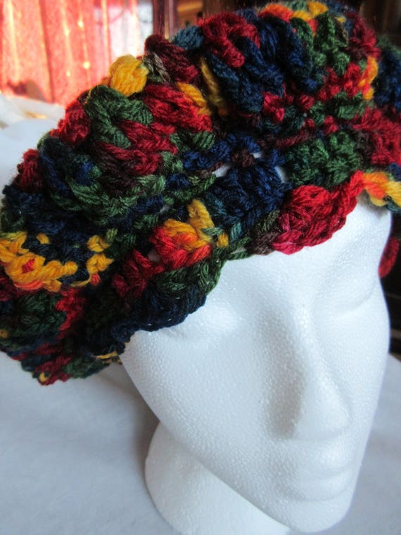 Multicolored Crocheted Hat