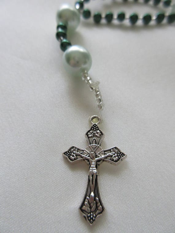 Rosary Beads in Green
