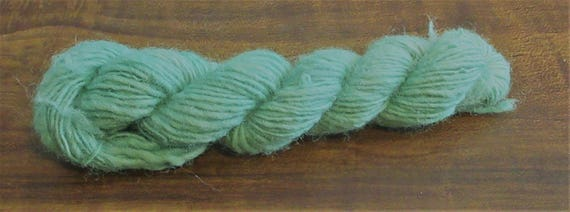 Dignified - Hand spun, hand dyed, green variegated merino mini skein   *MS1021