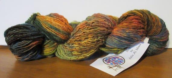 Junior Groovy - Fine multi colored handspun hand dyed wool yarn