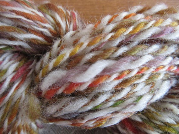 Curls and Swirls - Hand spun, hand dyed mini skein   *MS1032