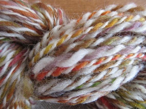 Curls and Swirls - Hand spun, hand dyed mini skein   *MS1032