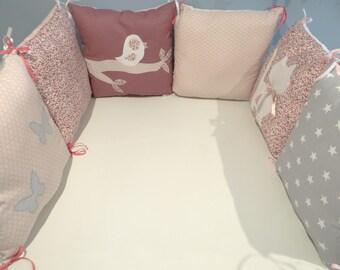 Tour de lit bebe prune | Etsy
