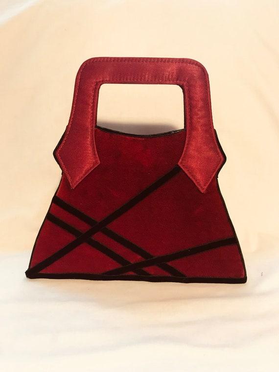 Handbag Vintage Red Velvet