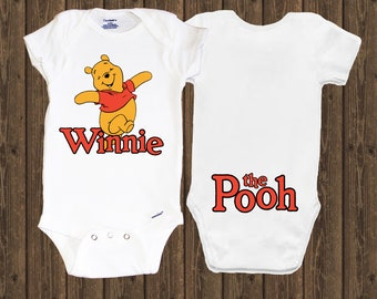 0252661d9 Winnie the Pooh inspired Onesie - Disney Baby Shower Gift Bodysuit Unisex  Infant - Baby Clothing