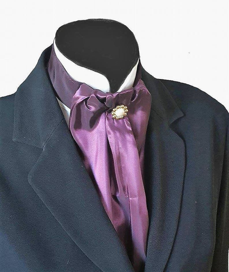 GOLD QUILTED TAFFETA CRAVAT JABOT VICTORIAN STEAMPUNK REGENCY WEDDING ASCOT GOTH