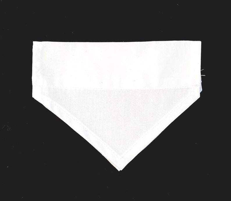 6 x Blank Dog BANDANAS White Cotton All Medium Size For Personalising Crafts Printing Embroidery Vinyl Slide On Collar Style ME1