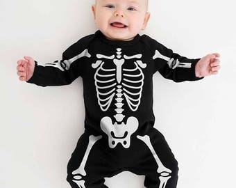 baby skeleton halloween costume skeleton babygrow newborn 0 3 months baby halloween outfit halloween baby clothes spooky baby grow