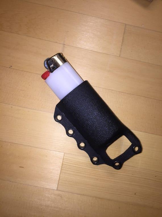 Lighter holder necklace in kydex bic range essential etfr