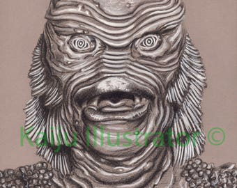 "The Creature from the Black Lagoon 8 1/2""x11""Print"