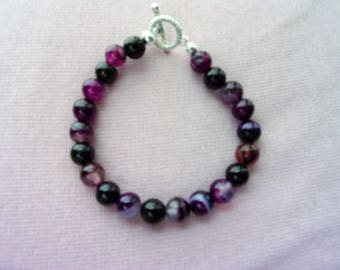 Purple Banded Agate bracelet