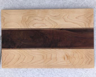"Maple/Walnut Cheese board - 11.75"" x 18.5"""