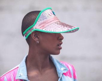 16b7f70370e Rose Gold Copper Sequin Festival Hat Sun Visor Green