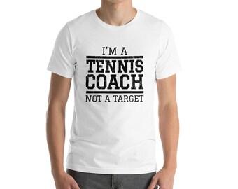 9f5b48d1 Funny Tennis Coach Shirt | Tennis Player Gift | Tennis Lover | Coach Gift  Ideas | Love Tennis | Tennis Teacher |Short-Sleeve Unisex T-Shirt