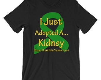 4b41a5262 Kidney Transplant Gift | Kidney Disease | Transplant Survivor | Kidney  Awareness | Kidney Recipient Gift | Short-Sleeve Unisex T-Shirt