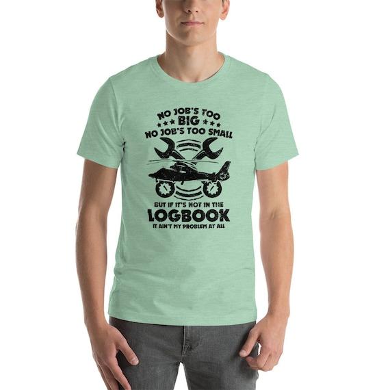 Avion mécanicien T Shirt | | Shirt Cadeau | Mécanicien avion | Mécanicien drôle | Cadeau de mécanique à l'air | Technicien d'aéronefs | Manches courtes T-Shirt unisexe 06472f