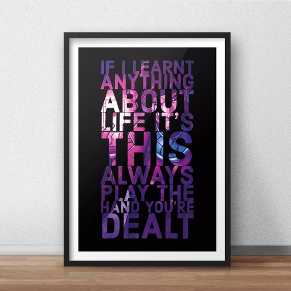 X Men Gambit Inspired Quote Poster Print Marvel Poster Etsy