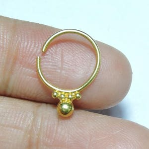 1 Piece Beautiful 24Kt Gold Plated Over 92.5 Sterling Silver Indian Nose Stud For Pierced NoseNose HoopPiercing Nose Studs.