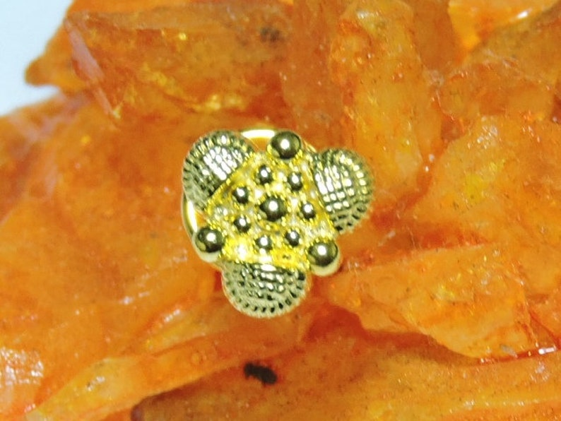 1 Piece Extremely Beautiful 24Kt Gold Plated Over 92.5 Sterling Silver Indian Nose Stud For Pierced Nose.
