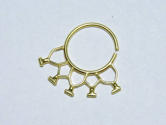 1 Piece Attractive 24Kt Gold Plated Over 92.5 Sterling Silver Indian Nose Stud For Pierced NoseBody JewellerySilver Nose Jewellery.