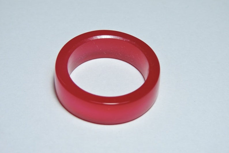 1 Piece Natural Rubilite Pink Chalcedony Smooth Polished Gemstone Made Ring BandPink ChalcedonyChalcedony Ring Band.