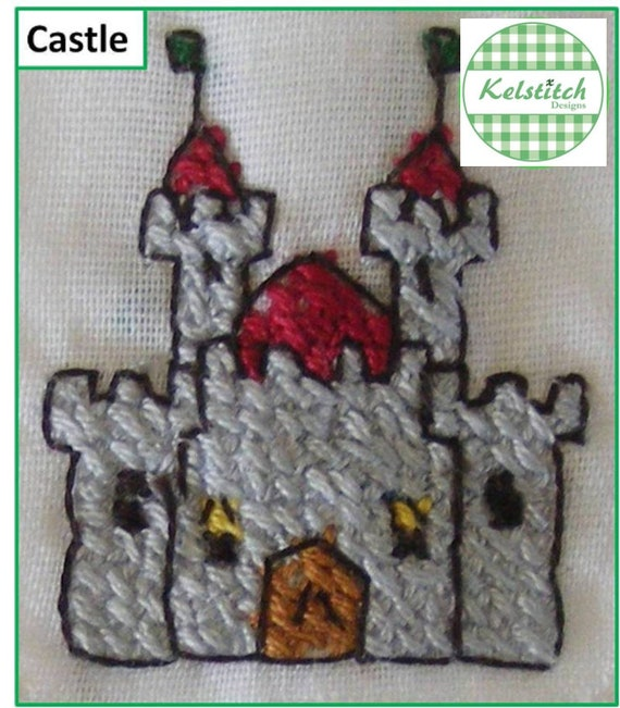 Cross stitch pattern - Castle cross stitch pattern - instant digital downloadable cross stitch pattern - pdf cross stitch pattern