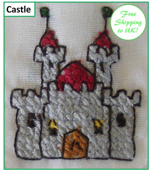 Hand Sewn Cross Stitch Pictures/Motifs on Short Sleeve Babygrow - 3-6 months - Free UK Shipping