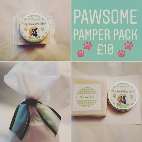 Dog Pamper Pack - Dog Paw and Nose Balm - Dog Soap - Dog Paw Care - Gift for Dog - Dog Grooming Gift - Dog Gift