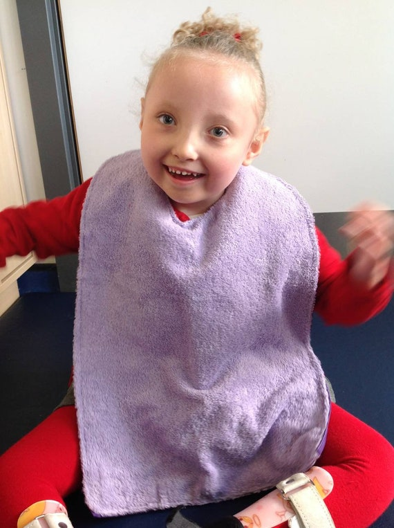 Dignity bibs for children and young adults - age appropriate colours - special educational needs - pmld - made to order