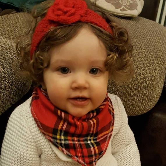 Tartan Baby Bib - Baby Bib - Baby - Baby Girl - Baby Boy - Handmade Bib - Bandana Bibs - Free UK Shipping