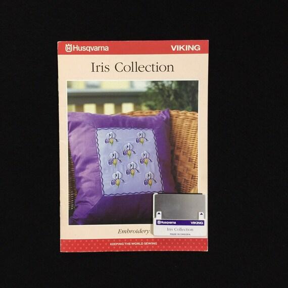 1250 Husqvarna Viking Birds Embroidery Designs Card Rose Iris Scandinavia #1
