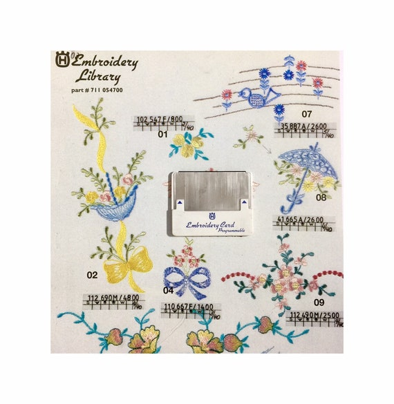 Holiday Embroidery Designs Card #2323 for Husqvarna Viking Embroidery Machines