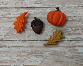 Cottagecore Fall Autumn Buttons Magnets or Keychains