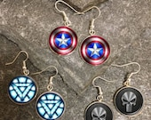 Superhero Earrings, Superhero Dangle Earrings, Superhero Charm Earrings, Superhero Stud Earrings, Comic Book earrings, Comic earrings