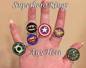 Superhero Ring, Superhero Ring, Comic Book Rings, Comic Ring, Price per ring
