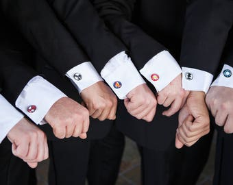 Superhero Cufflinks, Superhero Tie Clips, Superhero Tie tack, Superhero Cuff Links, Superhero Wedding, Superhero lapel pin