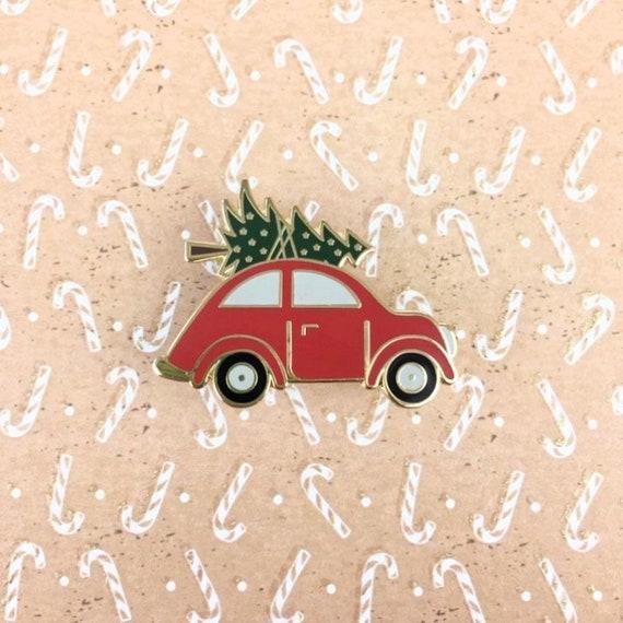 Driving Home For Christmas.Driving Home For Christmas Enamel Pin Lapel Pin Xmas Christmastree Festive Season Car Holiday Seasonal Badge Brooche